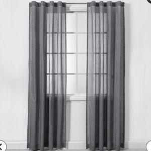 🎁 NWOB 2 gray 42 x 63 curtain panels.